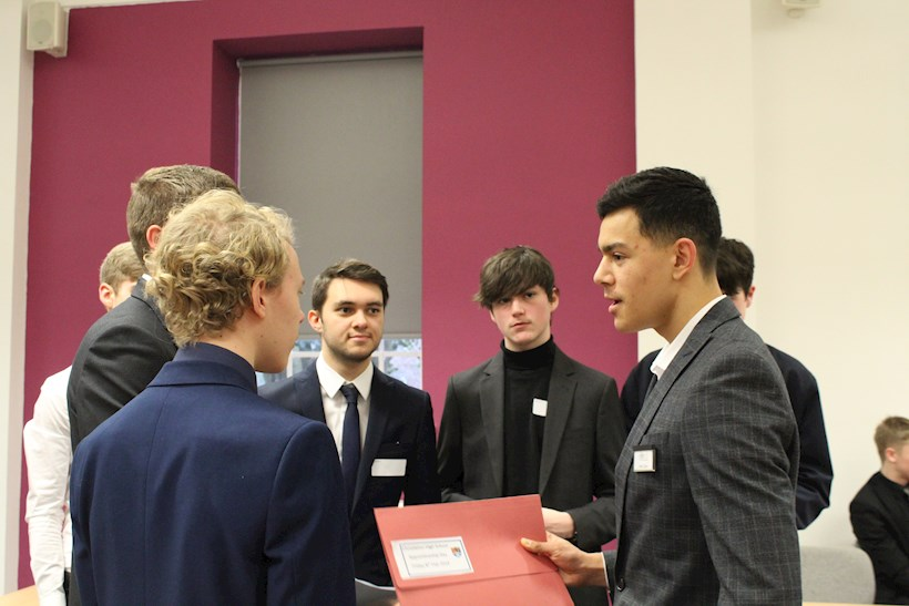 Image for Ellis & Co supports mock interview day at Christleton High School