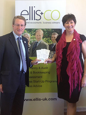 Robert Ellis, Principal Accountant at Ellis & Co Chartered Accountants and Business Advisers, is pictured with Fiona Fletcher, CEO of MNINC