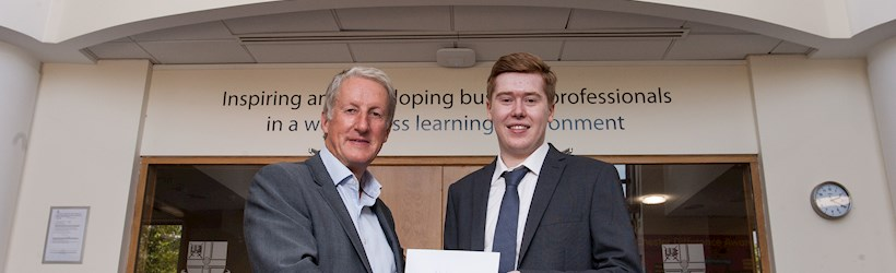 Image for Philip's hard work pays off as he embarks on a career in accounting